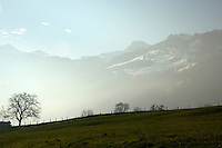 Swiss countryside Beckenried. Luzern area, Switzerland.
