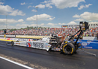 Jun 6, 2016; Epping , NH, USA; NHRA top fuel driver Antron Brown during the New England Nationals at New England Dragway. Mandatory Credit: Mark J. Rebilas-USA TODAY Sports