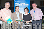 FARM: Speakers at the N/E Kerry Development talk at the Farm Family Support Services in the Carlton Hotel, Tralee on Thursday evening, L-r: Bernard Collins, Peter Young (main speaker/Farmers Journal), Hilary Egan (NEKD Farmers Section) and John Stack (Chairman Aricultural Section).
