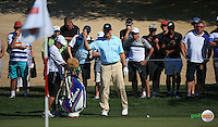Ernie Els (RSA) during the Final Round of the 2016 Omega Dubai Desert Classic, played on the Emirates Golf Club, Dubai, United Arab Emirates.  07/02/2016. Picture: Golffile | David Lloyd<br /> <br /> All photos usage must carry mandatory copyright credit (&copy; Golffile | David Lloyd)