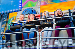 RIDING HIGH: Flor McCarthy (Kenmare), Pat McCarthy (Kilgarvan), Caoimhe O'Connor (Blackwater) and Stacey Rigter (Sneem) enjoying the 'Washing Machine', one of the funfair rides at Sneem Family Festival.