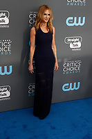 Holly Hunter attends the 23rd Annual Critics' Choice Awards at Barker Hangar in Santa Monica, Los Angeles, USA, on 11 January 2018. Photo: Hubert Boesl - NO WIRE SERVICE - Photo: Hubert Boesl/dpa /MediaPunch ***FOR USA ONLY***