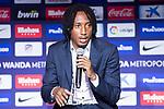 Gerson Martins during his presentation as new Atletico de Madrid soccer player at Wanda Metropolitano in Madrid, Spain. July 09, 2018. (ALTERPHOTOS/Borja B.Hojas)