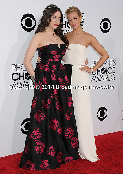 Pictured: Kat Dennings, Beth Behrs<br /> Mandatory Credit &copy; Gilbert Flores /Broadimage<br /> 2014 People's Choice Awards <br /> <br /> 1/8/14, Los Angeles, California, United States of America<br /> Reference: 010814_GFLA_BDG_264<br /> <br /> Broadimage Newswire<br /> Los Angeles 1+  (310) 301-1027<br /> New York      1+  (646) 827-9134<br /> sales@broadimage.com<br /> http://www.broadimage.com