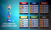 Futsal World Cup Sorteo, Colombia 2016, 19-05-2016