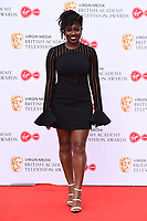 LONDON, UK. May 12, 2019: Clara Amfo arriving for the BAFTA TV Awards 2019 at the Royal Festival Hall, London.<br /> Picture: Steve Vas/Featureflash