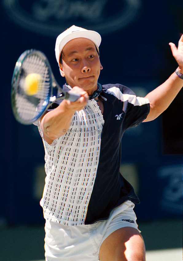 Photo. Abbey Wells.Austrailan Open, Melbourne, Austraila. 1996.Michael Chang