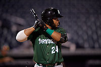 Daytona Tortugas Hendrik Clementina (24) at bat during a Florida State League game against the Tampa Tarpons on May 17, 2019 at George M. Steinbrenner Field in Tampa, Florida.  Daytona defeated Tampa 8-6.  (Mike Janes/Four Seam Images)