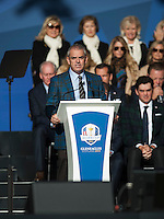 25.09.2014. Gleneagles, Auchterarder, Perthshire, Scotland.  The Ryder Cup.  Paul McGinley European Team Captain at the opening ceremony.