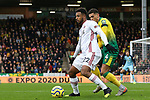 Lys Mousset of Sheffield United is closed down by Ben Godfrey of Norwich City during the Premier League match at Carrow Road, Norwich. Picture date: 8th December 2019. Picture credit should read: James Wilson/Sportimage