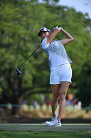 Celine Boutier (FRA) watches her tee shot on 2 during round 1 of the 2019 US Women's Open, Charleston Country Club, Charleston, South Carolina,  USA. 5/30/2019.<br /> Picture: Golffile | Ken Murray<br /> <br /> All photo usage must carry mandatory copyright credit (© Golffile | Ken Murray)