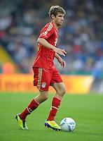 FUSSBALL   DFB POKAL   SAISON 2011/2012  1. Hauptrunde Eintracht Braunschweig - FC Bayern Muenchen   01.08.2011 Thomas MUELLER (FC Bayern Muenchen) Einzelaktion am Ball