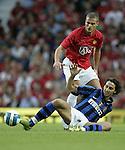 Manchester United's Nemanja Vidic tackles Zlatan brahimovic of Inter Milan. Pic SPORTIMAGE/Dave Thompson..Pre-Season Friendly..Manchester United v Internazionale..1st August, 2007..--------------------..Sportimage +44 7980659747..admin@sportimage.co.uk..http://www.sportimage.co.uk/