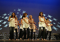 """12 July, 2008:    2008 Miss Washington contestants performed a opening number called 'Living in America"""" dance skit on stage during the 2008 Miss Washington pageant at the Pantages Theater in Tacoma , Washington."""