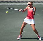 Andrea Hlavackova (CZE) battles at Family Circle Cup in Charleston, South Carolina on April 4, 2012