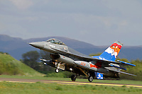 Dutch F-16 in tiger paint scheme. Nato Tiger Meet is an annual gathering of squadrons using the tiger as their mascot. While originally mostly a social event it is now a full military exercise. Tiger Meet 2012 was held at the Norwegian air base Ørlandet.