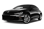 Stock pictures of low aggressive front three quarter view of a 2017 Volkswagen Scirocco R Line 5 Door Hatchback