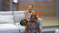 Celebrity Big Brother 2017<br /> Sarah Harding and Sandi Bogle <br /> *Editorial Use Only*<br /> CAP/KFS<br /> Image supplied by Capital Pictures