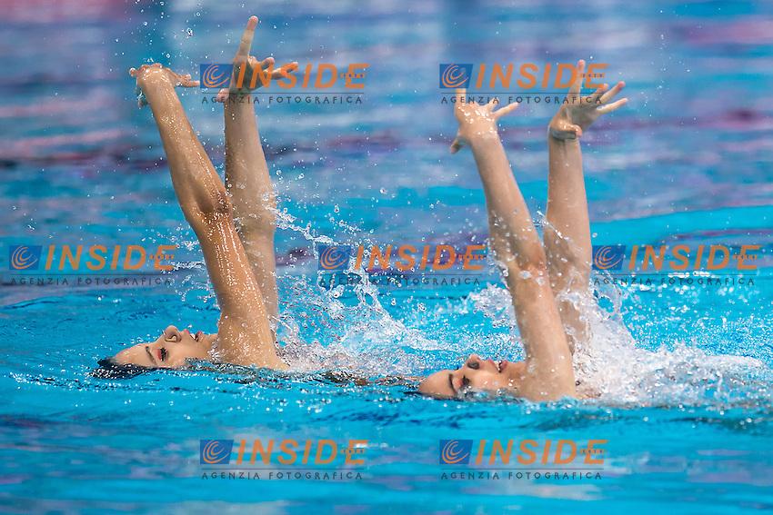 COSTA Barbara  POR VIEIRA Cheila  POR<br /> London, Queen Elizabeth II Olympic Park Pool <br /> LEN 2016 European Aquatics Elite Championships <br /> Synchronised Swimming Synchro Duet Tech<br /> Day 06 13-05-2016<br /> Photo Giorgio Scala/Deepbluemedia/Insidefoto