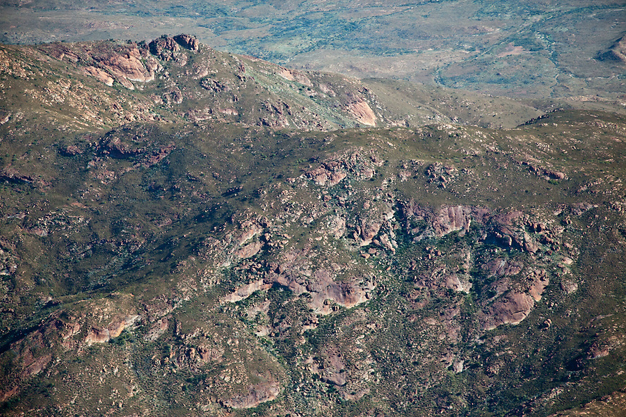Aerial view of West MacDonnell Ranges Central Australia