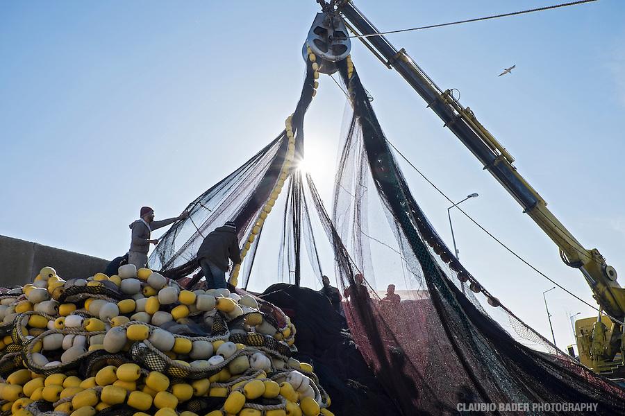 Turkey, Rumeli Feneri, Fishermans