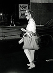 Jessica Lange on the set filming TOOTSIE on June 9, 1982 in New York City.