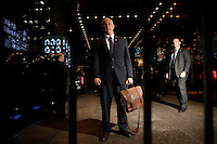 United States Vice President Elect Mike Pence speaks to the press after he exits Trump Tower on December 5, 2016 in New York City. U.S. President-elect Donald Trump is still holding meetings upstairs at Trump Tower as he continues to fill in key positions in his new administration. Photo Credit: John Angelillo/CNP/AdMedia