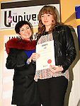 Ashling Williams receives her Short Story Runner Up certificate from Mona Daly..Picture: Shane Maguire / www.newsfile.ie.