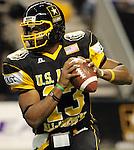 East quarterback Paul Jones throws the ball during the first half of the U.S. Army All-American Bowl, Saturday, Jan. 9, 2010, at the Alamodome in San Antonio. (Darren Abate/pressphotointl.com)