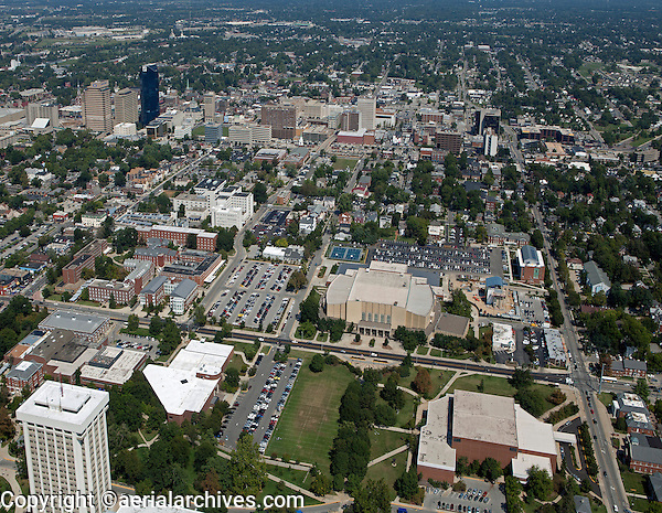 aerial photograph, University of Kentucky, Lexington, Kentucky