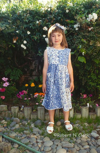 Girl in sunday dress
