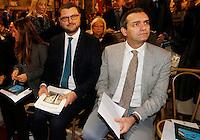 Il sottosegretario Gennaro Migliore  e il sindaco di Napoli  Luigi De Magistris durante la cerimonia di innagurazione anno giudiziario in Campania <br /> Salone dei Busti Castel Capuano Napoli