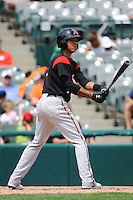 Richmond Flying Squirrels infielder Ehire Adrianza (1) during game against the Trenton Thunder at ARM & HAMMER Park on June 9 2013 in Trenton, NJ.  Trenton defeated Richmond 3-2.  Tomasso DeRosa/Four Seam Images