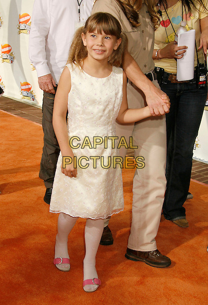 BINDI IRWIN .20th Annual Nickelodeon Kids' Choice Awards held at UCLA's Pauley Pavilion, Westwood, California, USA,.31 March 2007..full length daughter Steve white dress.CAP/ADM/RE.©Russ Elliot/AdMedia/Capital Pictures.
