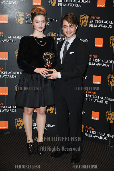 Holliday Grainger and Daniel Radcliffe announces the nominations for the 2012 BAFTA Film Awards at BAFTA, London. 17/01/2012  Picture by: Steve Vas / Featureflash