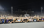 U2 Fans live during U2's - 360° Tour ,the show was being broadcast live on youtube from The Rose Bowl in Pasadena, California on October 25,2009                                                                   Copyright 2009 DVS / RockinExposures