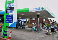 Harvest Energy Petrol Station selling unleaded petrol at 99.9p per litre, the first time since 2016 petrol has been sold below £1 per litre.<br /> The global oil market crash triggered by the coronavirus lockdown has seen the crude oil price plummet to a near 20 year low.†Now, led by UK Supermarket chains, Unleaded petrol is now on sale throughout the country at below £1 per litre. Bedford, UK May 16th 2020†<br /> CAP/ROS<br /> ©ROS/Capital Pictures