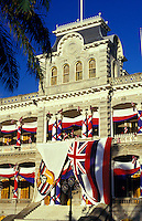 Iolani Palace, former residence of Hawaiian royalty King Kalakaua and Queen Liliuokalani,is the only royal palace in the United States.