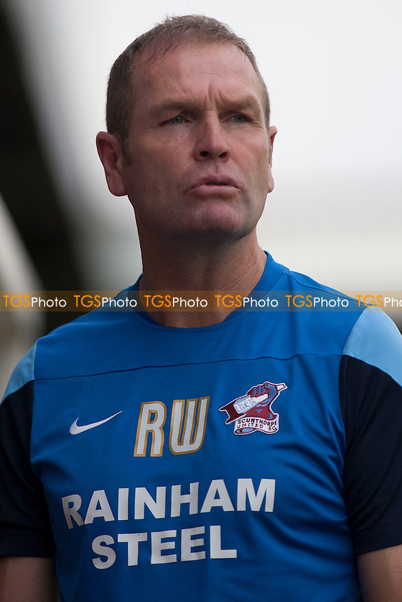 Scunthorpe United manager Russ Wilcox<br />  - Scunthorpe United vs Huddersfield Town - Pre-Season Friendly Football Match at Glanford Park, Scunthorpe - 26/07/14 - MANDATORY CREDIT: Mark Hodsman/TGSPHOTO - Self billing applies where appropriate - contact@tgsphoto.co.uk - NO UNPAID USE<br />   i