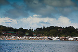PHILIPPINES, Palawan, Puerto Princessa, City Port Area as seen from the water