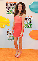 LOS ANGELES, CA - MARCH 31: Madison Pettis arrives at the 2012 Nickelodeon Kids' Choice Awards at Galen Center on March 31, 2012 in Los Angeles, California.