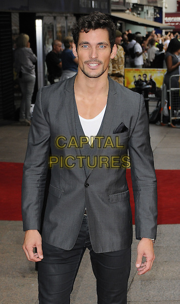 "DAVID GANDY .Attending the UK Film Premiere of ""The Expendables"" at Odeon Leicester Square, London, England, UK. .August 9th 2010 .half length black grey gray jacket beard facial hair.CAP/CAN.©Can Nguyen/Capital Pictures."