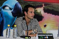 RIO DE JANEIRO, RJ, 17.03.2014 - Rodrigo Santoro  participa nesta segunda-feira na coletiva de imprensa que apresenta o lançamento do filme de animação Rio 2, no Parque Lage, zona sul da cidade. (Foto. Néstor J. Beremblum / Brazil Photo Press)