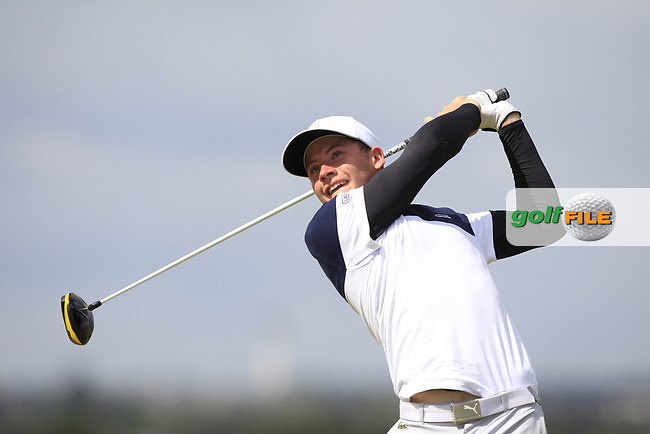 Aymeric Laussot (FRA) on the 5th tee during Round 1 of the The Amateur Championship 2019 at The Island Golf Club, Co. Dublin on Monday 17th June 2019.<br />
