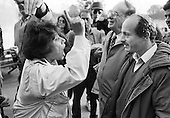 Iranian-Jewish argument.  Speakers' Corner, Hyde Park, London; 1993.