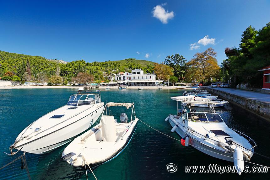 The port in Agnontas of Skopelos island, Greece