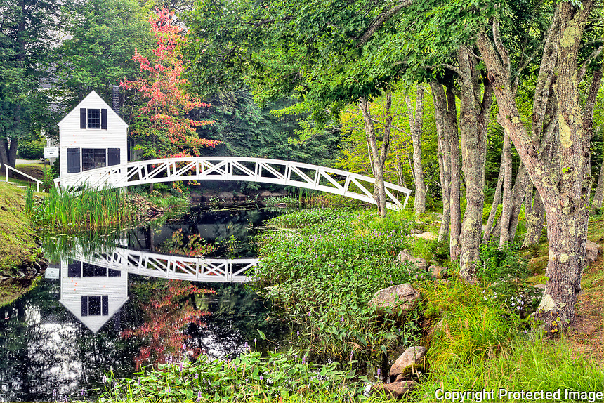 White footbridge, Somesville, Mount Desert Island, Maine