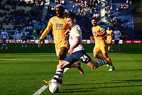 Preston North End's Sean Maguire in action<br /> <br /> Photographer Richard Martin-Roberts/CameraSport<br /> <br /> The EFL Sky Bet Championship - Preston North End v Wigan Athletic - Saturday 6th October 2018 - Deepdale Stadium - Preston<br /> <br /> World Copyright &not;&copy; 2018 CameraSport. All rights reserved. 43 Linden Ave. Countesthorpe. Leicester. England. LE8 5PG - Tel: +44 (0) 116 277 4147 - admin@camerasport.com - www.camerasport.com