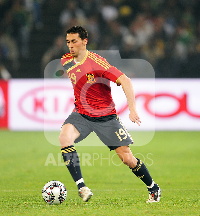 Alvaro Arbeloa  during the soccer match of the 2009 Confederations Cup between Spain and South Africa played at the Freestate Stadium,Bloemfontein,South Africa on 20 June 2009.  Photo: Gerhard Steenkamp/Superimage Media.