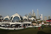 A general view of the putting green and clubhouse during the third round of the Omega Dubai Desert Classic, Emirates Golf Club, Dubai, UAE. 26/01/2019<br /> Picture: Golffile | Phil Inglis<br /> <br /> <br /> All photo usage must carry mandatory copyright credit (© Golffile | Phil Inglis)